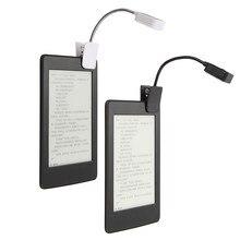 Table Lamp For Kindle For Notebook LED Book Light Reading Light Desk Lamp Mini Flexible Clip On Book DC6V Black White