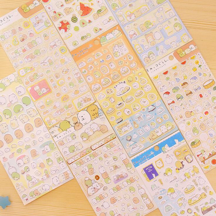 New Arrival Korean Sumikko Gurashi Party Decorative Stickers Adhesive Stickers DIY Decoration Diary Stickers