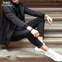 Enjeolon Brand Long Straight Trousers Men Casual Pa