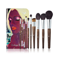 HUAMIANLI 10Pcs Cosmetic Makeup Brushes Set Blush Powder Foundation Eyeshadow Eyeliner Lip Lashes Make Up Brush