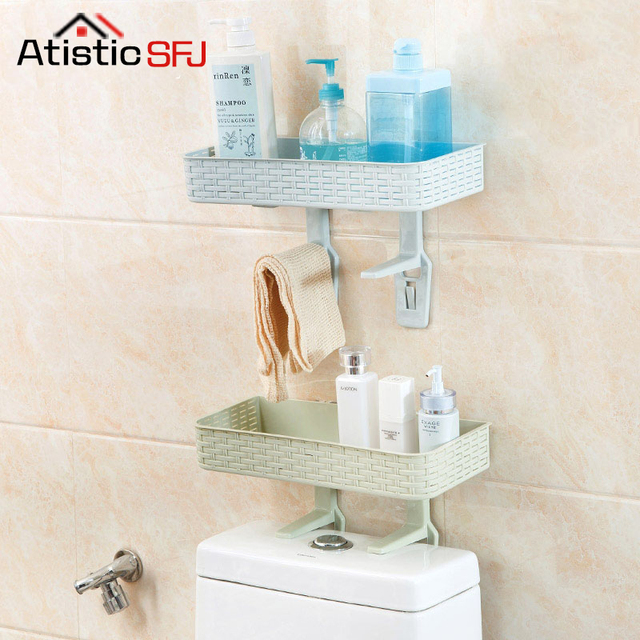 NEW Multifunctional Shelf Free Punching Bathroom Shelf Wall Hanging ...
