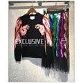 2016 del Diseñador de la Pista de Otoño E Invierno Suéter de Las Mujeres de Alta Calidad Animal Jerseys Suéter Casual Svoryxiu