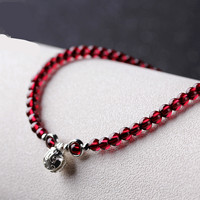 Garnet Footchain Female 925 Silver Bell Crystal Footchain Fashion Simple Jewelry