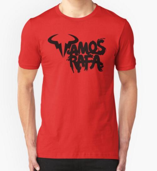 Spain Player Rafael Nadal Bull Logo Print T-shirt VamosRafa Symbol Printed Mens T Shirt Tee Top