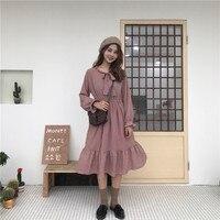New Women dress Printlt Chiffon Slim V-Neck Firm Offers Society Render Dresses Lotus Root Red Navy 5471