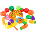 24 Pcs/ Set Kids Kitchen set Toys Plastic Fruit Vegetable Kitchen Cutting Toys Early Development Education Toy for Baby Children