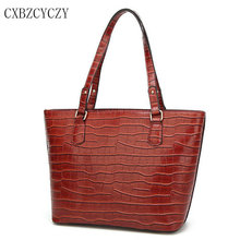 Women Totes Bags Luxury PU Leather Famous Brands Design Crocodile pattern Women Handbag Shoulder Bag High Quality Shopping Bag