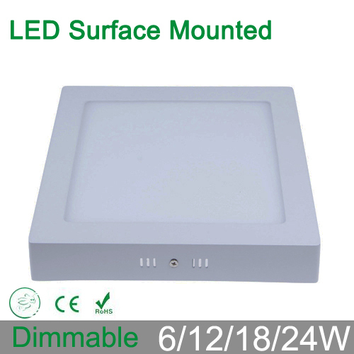 Dimmable 6w 12w 18w surface mounted led ceiling light square led dimmable 6w 12w 18w surface mounted led ceiling light square led panel down lights for home luminaire lighting ac85 265v in downlights from lights aloadofball Choice Image