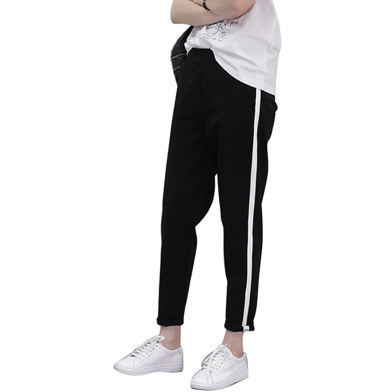 0fe4e40d705f58 Size M XXL Spring Sweatpants Women Casual Harem Pants Loose Trousers For Women  Black Striped Side Sweat Pants Female Plus 2018-in Pants & Capris from ...