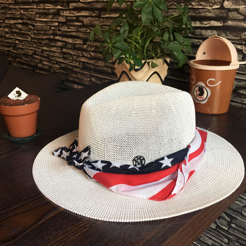 Summer hat Sir Hollow out white hat double black label printing ribbon  sunhat sunscreen hats for men and women-in Sun Hats from Apparel  Accessories on ... 172028d78ab