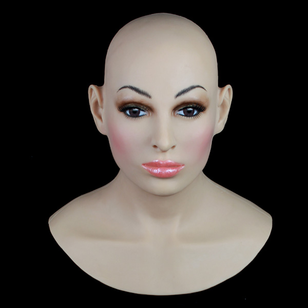 SF-14  fixed with zipper Cross Dressing Party Masks rubber late halloween horror mask Female Mask wholesaler free shipping [sf 11] fixed with zipper sissy boy rubber latex mask cross dressing halloween horror female mask female mask sissy boy