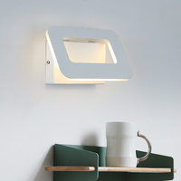 4W/6W LED Wall Lamp Bedroom Bedside Wall Light Reading Lighting Sconce Lamp Adjust Color Temperature Dimming Iron & Acrylic