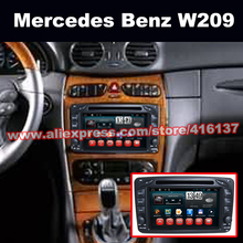 7 inch Capacitive Touch Screen Car DVD Players Android 4.4 For Mercedes for Benz W209 Support GPS/Glonass iPod SWC TV OBD2 TPMS