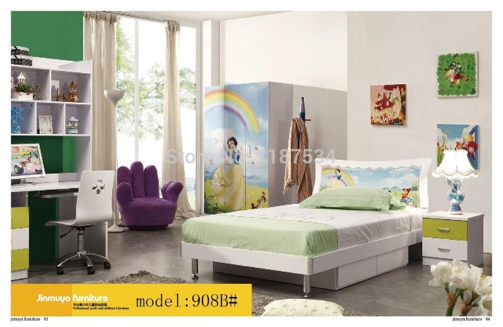 908b Bedroom Home Furniture Bed Wardrobe Desk Nightstand