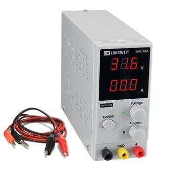 Fuente de alimentación LW-K3010D DC batería de litio Digital ajustable carga 30 V 10A reguladores de voltaje interruptor fuente de alimentación de laboratorio