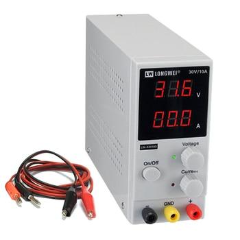Fuente de alimentación de LW-K3010D CC batería de litio Digital ajustable que carga los reguladores de voltaje de 30 V 10A interruptor fuente de alimentación de laboratorio