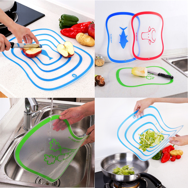 1 Pcs High Quality Plastic Chopping Board Non-Slip Scrub Cutting Board Durable Meat Vegetable Chopping Board Kitchen Accessories