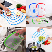 1 Pcs High Quality Plastic Chopping Board Non-Slip Scrub Cutting Durable Meat Vegetable Kitchen Accessories