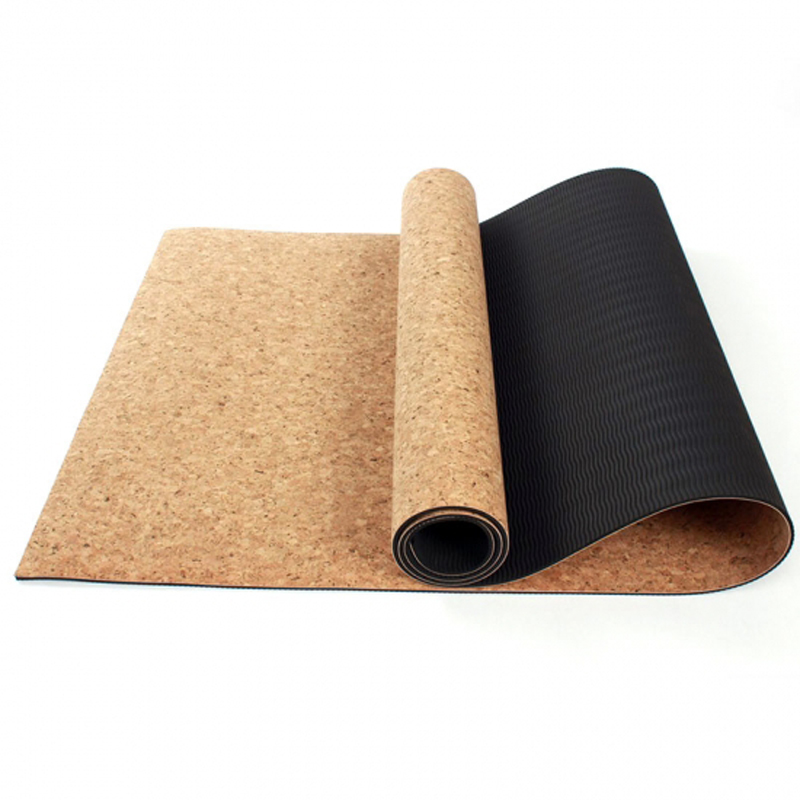 Gym Mats Cork: Yoga Mats 5MM Non-slip Cork Natural Rubber For Fitness