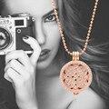 35mm Mi Moneda Colgante Collar con Brillantes Secreto de la mar Disco Moneda y 80 cm Cadena de Cuentas como Manera de Las Mujeres regalo