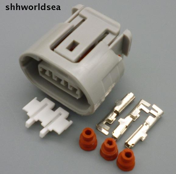 shhworldsea 10Sets 3 Pin Car electrical connector plug ALTERNATOR LEAD REPAIR Fits for mitsubishi oval Harness shhworldsea 10sets 3 pin car electrical connector plug alternator