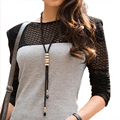 Creative Necklace 1PC Fashion Crystal Fringed Long Sweater Chain Geometry Necklace Chain Accessories Sexy Chain