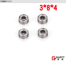 (3Pieces/Lot)  GT450 3*8*4 Size Bearing  For 450 RC Helicopter 100% Compact Align Trex