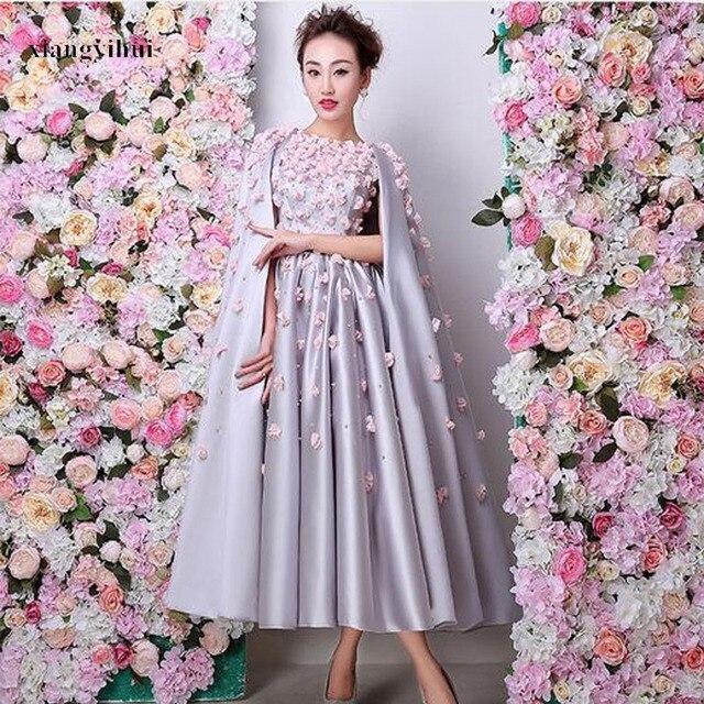 Designer Tea Length Formal Dresses