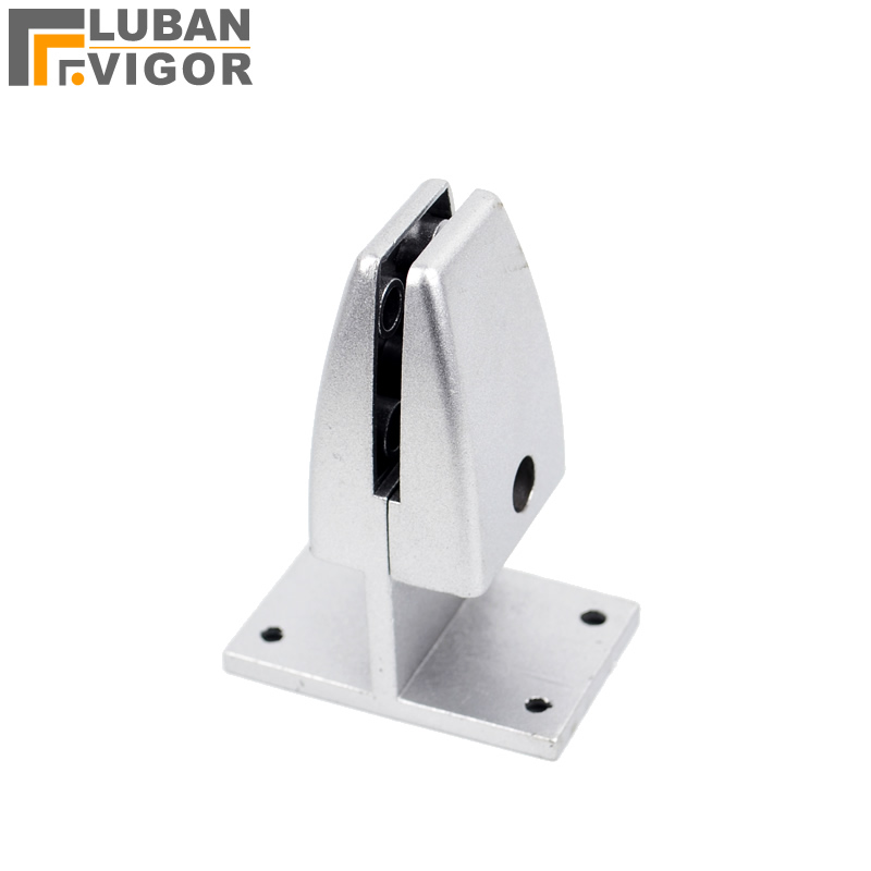 Aluminum alloy,Screen glass clip/clamp , shelf support/clip,glass thickness:8-15MM,Partitions, Bathroom Hardware