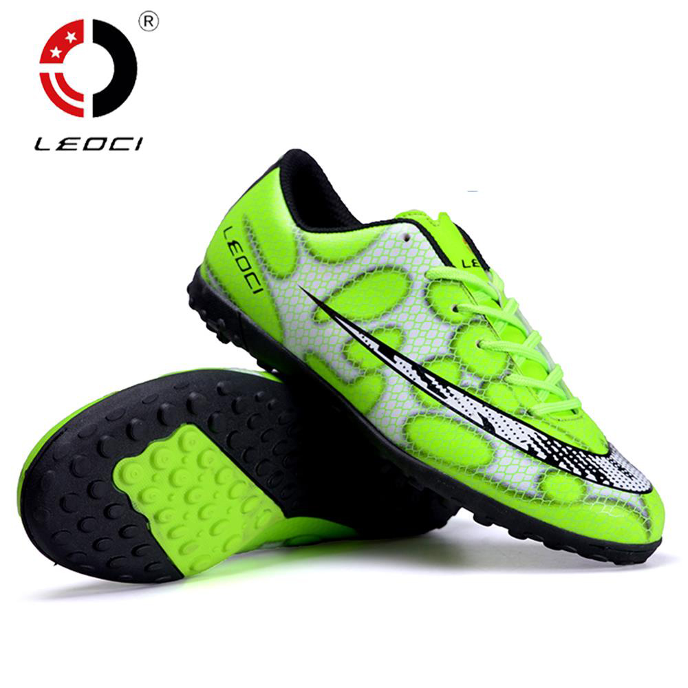 LEOCI Football Shoes TF Turf Soccer Shoes Anti-Collision Cleats Botas De Futbol For Adult/Kids Size 33-44 tiebao professional botas de futbol soccer shoes boys sports football boots tf turf soles soccer cleats training sneakers shoes