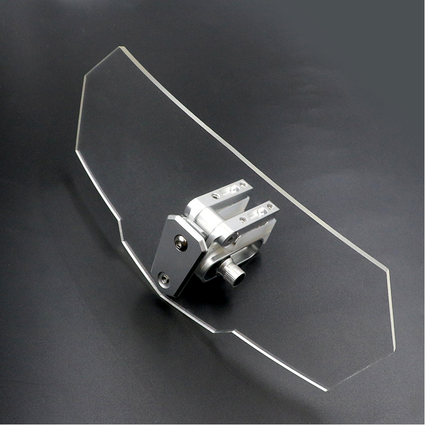 Unversal Airflow Adjustable Windscreen Wind Deflector Motorcycle <font><b>Windshield</b></font> For <font><b>yamaha</b></font> <font><b>nmax</b></font> 125 xmax 300 suzuki bandit 400 600 image