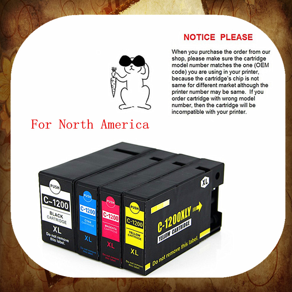 ФОТО Compatible ink cartridge for Canon PGI-1200 for Canon MAXIFY  M B 2020/MAXIFY  M B 2320