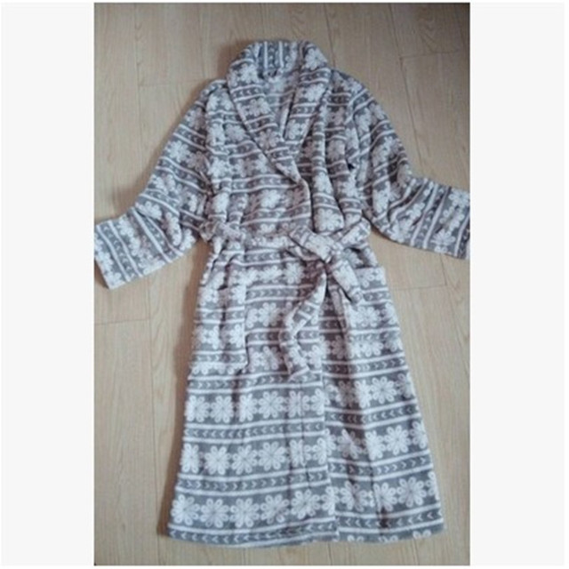 Robe For Women Autumn and winter lovers coral fleece bathrobe soft Women lounge Robes