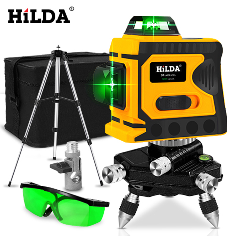 HILDA 360 Laser Level 12 Lines 3D Level Self Leveling Horizontal And Vertical Cross Super Powerful