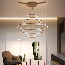 Aluminum Modern Led Pendant Lights Brown Lamp For Diningroom hanging lights suspension luminaire nordic lamp