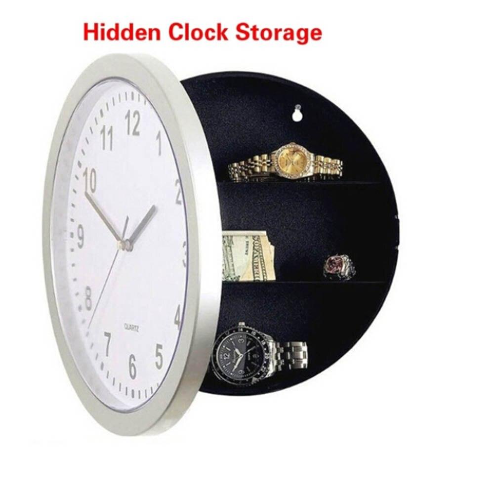 Vintage Hidden Secret Storage Box Wall Clock Safe Money Stash Jewellery Stuff Storage Container Wall Clock Safe Box Creative