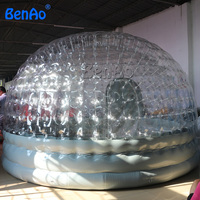 T060 BenAo Hot sale Airtight inflatable dome,sealed clear inflatable igloo,inflatable transparent tent for promotion