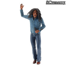 Bob Marley Figure Music Legends Jamaica Singer & Microphone PVC Action Figure Collectible Model Toy 18cm(China)