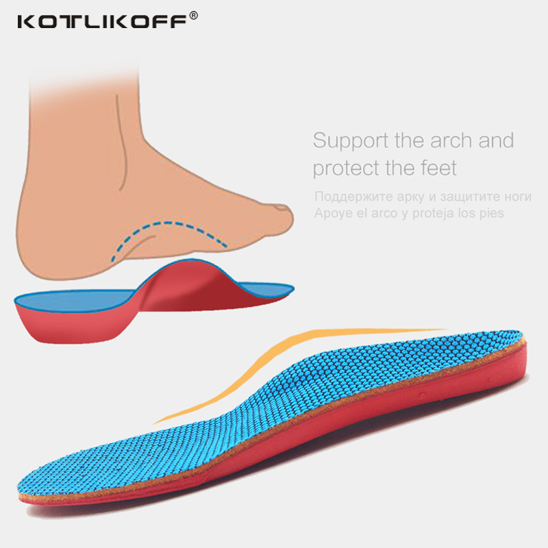 KOTLIKOFF 3D Orthotic Insoles flat feet for kids and Children Arch Support insole for X-Legs child orthopedic shoes Foot Care kids children pu orthopedic insoles for children shoes flat foot arch support orthotic pads correction health feet care w046