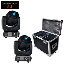 Flightcase 2in1 For 2XLOT 90W  Gobo LED Moving Head Light 3 Face Prism With LCD Display DMX Controller 6/16 Channel High Quality