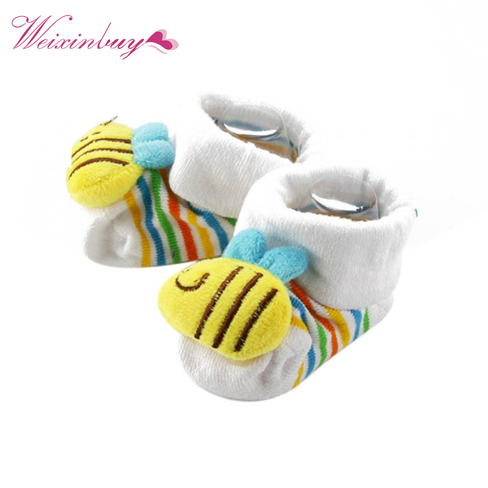 New Winter Animal Lovely Cartoon Baby Socks Shoes Cotton Newborn Booties Unisex Infant Kids Boots Fisrt Walkers 0-10M X2