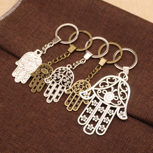 WYSIWYG Double Sided Hand Key Chain Charms Of Fatima For Diy Handmade Gifts Keychain