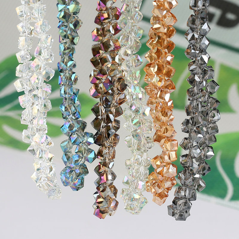Crystal Square Beads Glass Staggered Bracelet-Accessories Necklace Jewelry-Making Irregular
