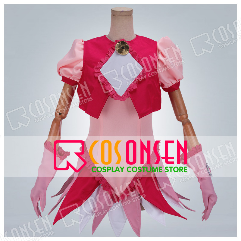 Anime Magical Doremi Harukaze Doremi Cosplay Costume COSPLAYONSEN Pink Dress Any Size