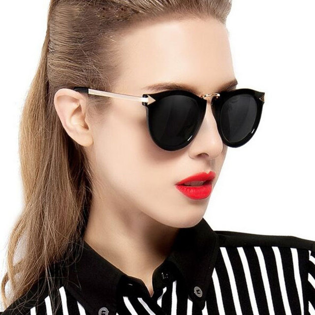 4875f05635 Luxury Vintage Round Sunglasses Women Brand Designer Cat Eye Sunglasses  Points Sun Glasses For Women Female Lady Sunglass Mirror