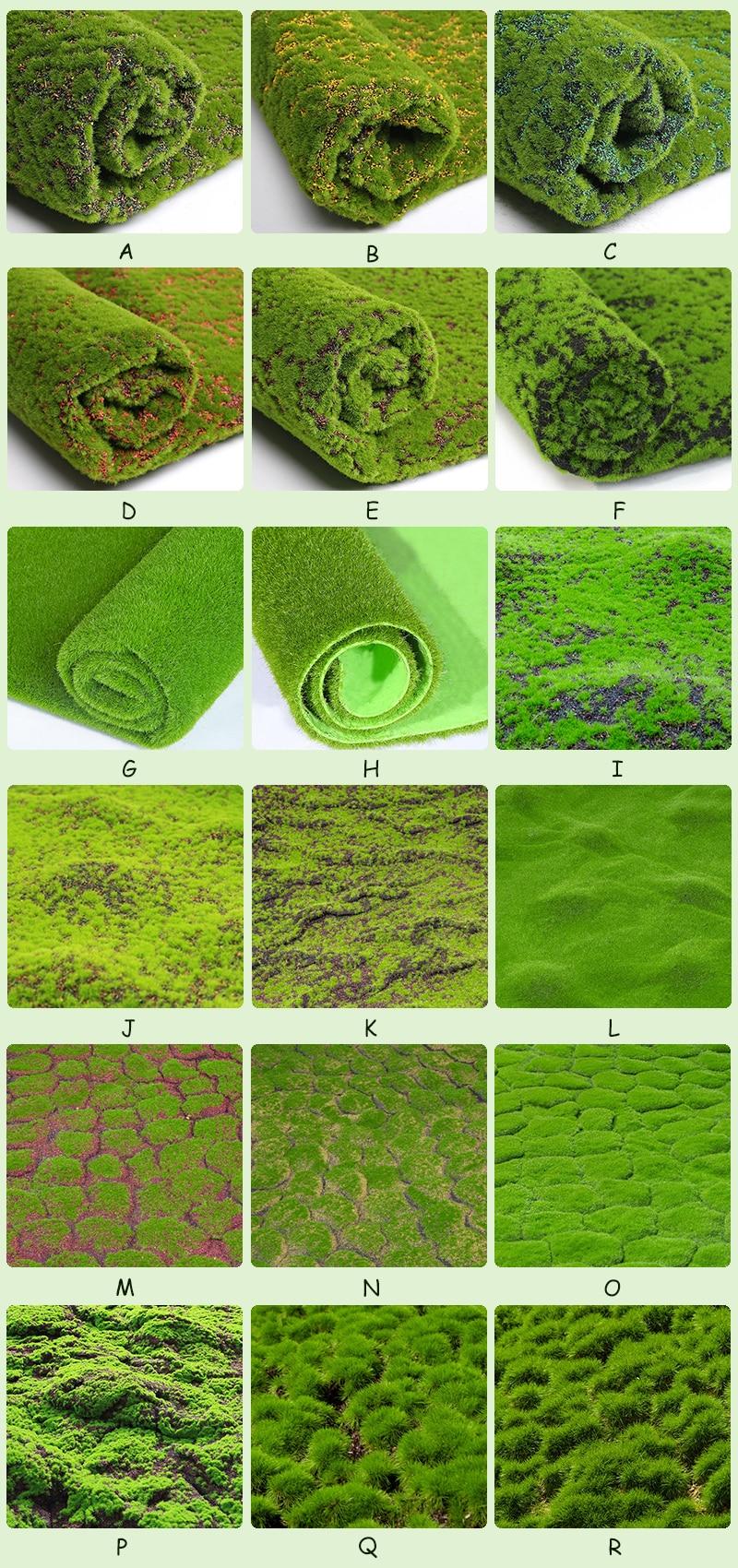 JAROWN Artificial Green Plant Wall Fake Moss Turf Wedding Scenes Decor Mall Window Landscaping Fake Lawn Home Garden Decoration (01)