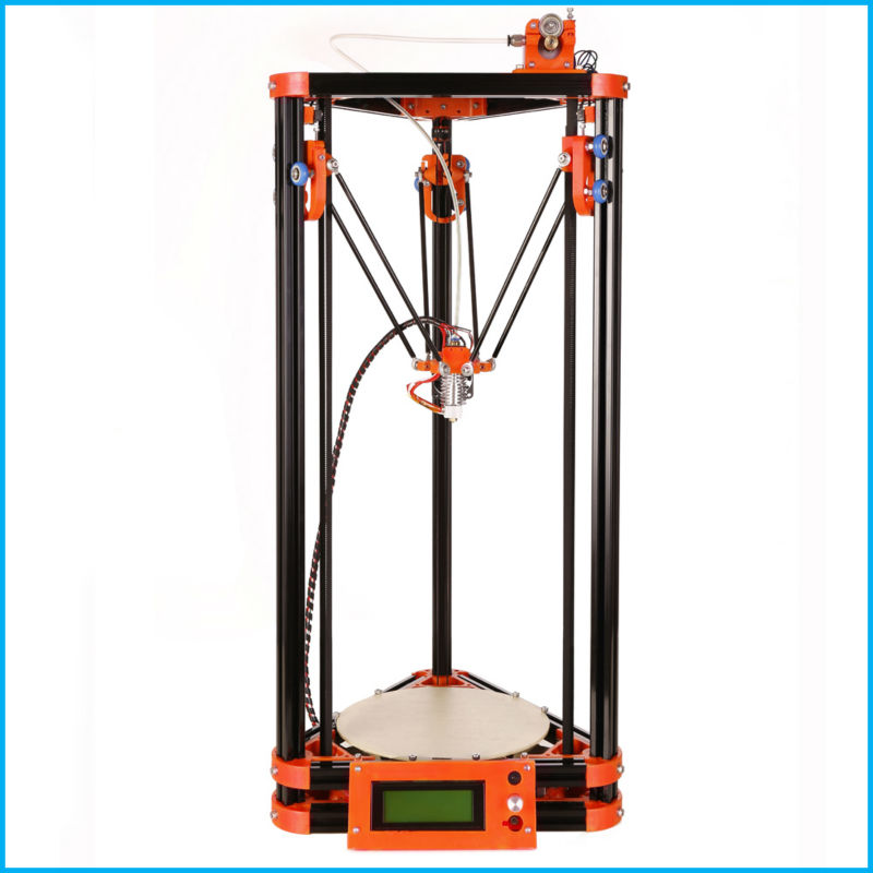 LCD Display Delta Diy 3d Printer Kits With 40m Filament Masking Tape SD Card For Free