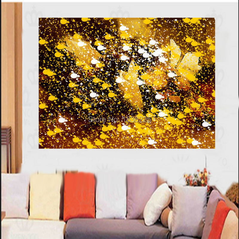 Handmade Bright Colored Abstract Oil Paintings Landscape For Living Room Decoration Beautiful Pictures Wall Art Decor In Painting Calligraphy From