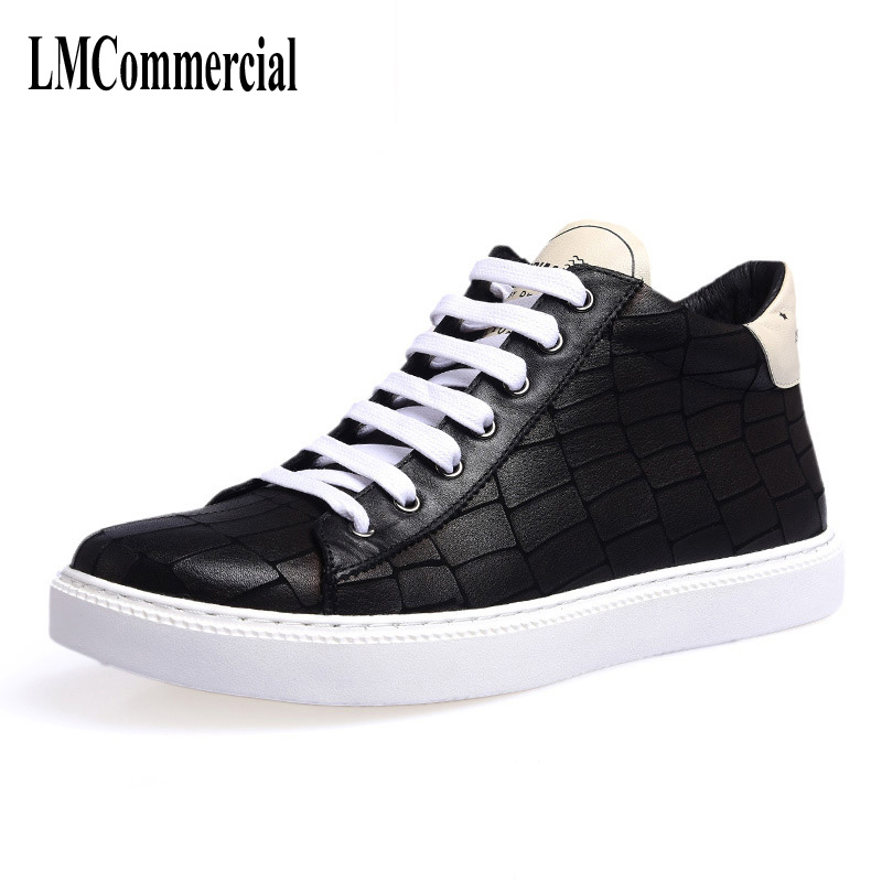 High supreme trend of Korean all-match British autumn new leather Gobon retro casual shoes men shoes new autumn winter british retro men shoes red new shoes all match 2017 male korean men s leather high boots breathable fashion