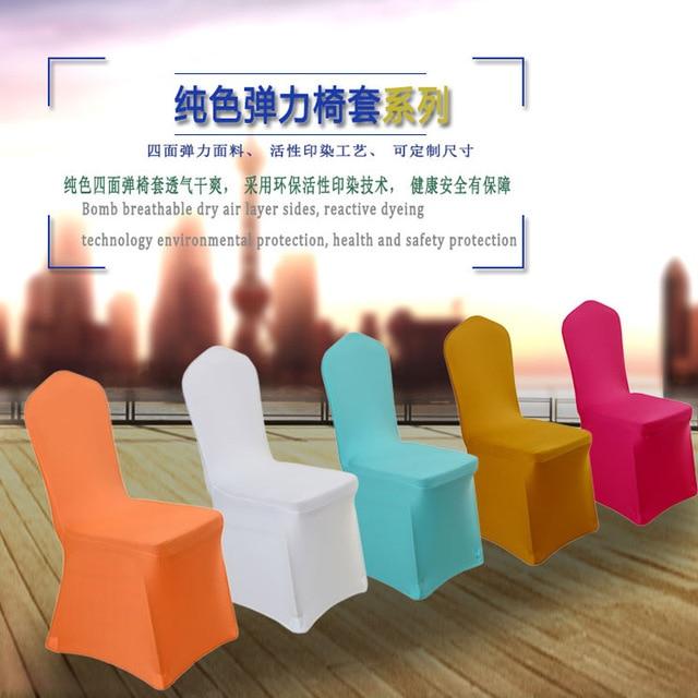 Hedendaags Wit stoelhoezen Witte bruiloft decoratie stoel elastische stof EB-56